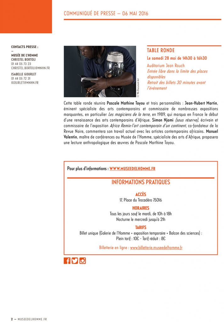 CP-MH - Master Class et Table Ronde avec Pascale Marthine Tayou - V2 sans N. Bourriaud (2)